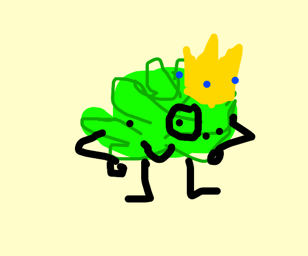 A Baby Cabbage With a Crown and a Monocle