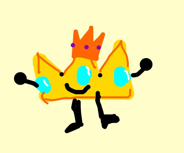 Crown wearing a crown