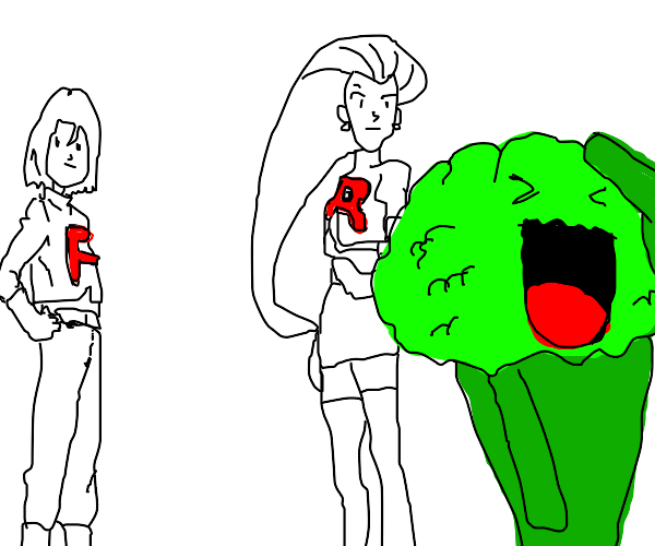 team rocket and a broccoli