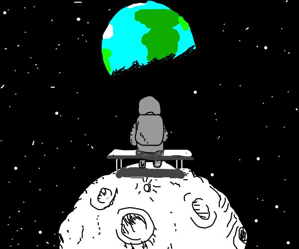 Astronauts watch Earth