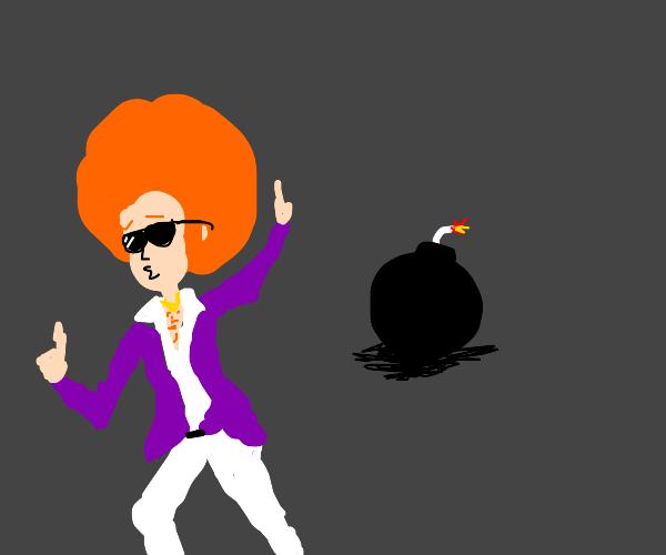 A bomb behind a Ginger disco dancer