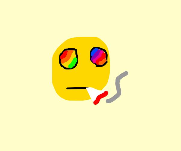 stoned lsd emoji
