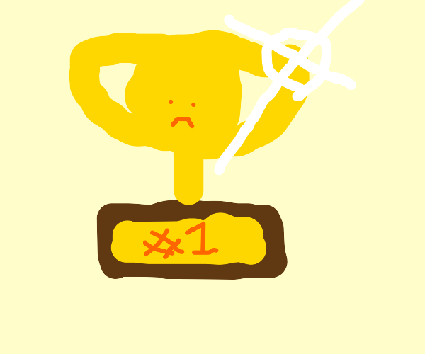 Sad first place trophy