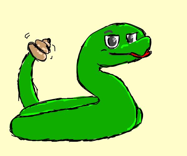 rattlesnake shakes tail smugly