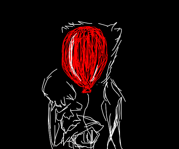 Pennywise behind a balloon