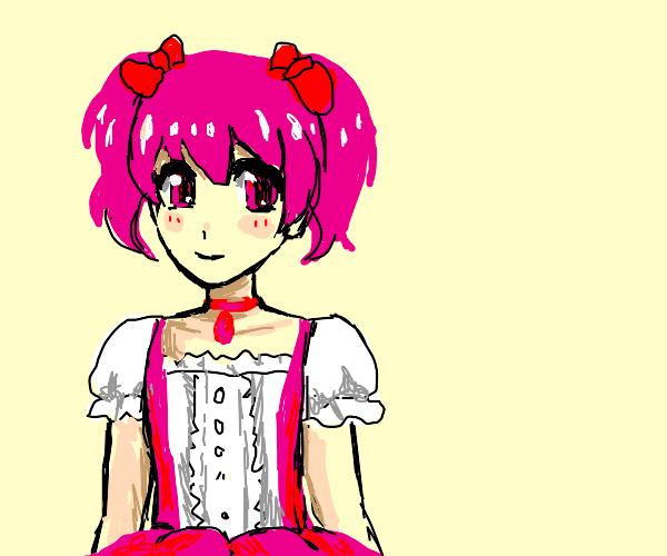 kawaii pink-haired girl