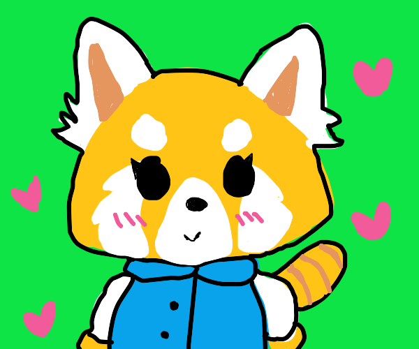 Aggretsuko being cute