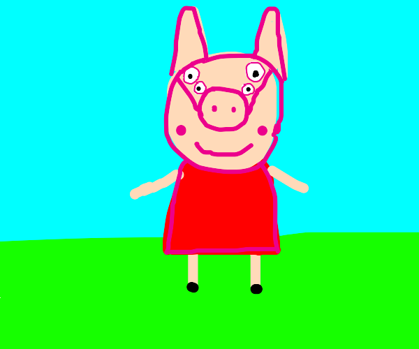 peppa pig but shes a rabbit