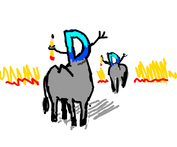 Drawception D's, but they're donkeys..