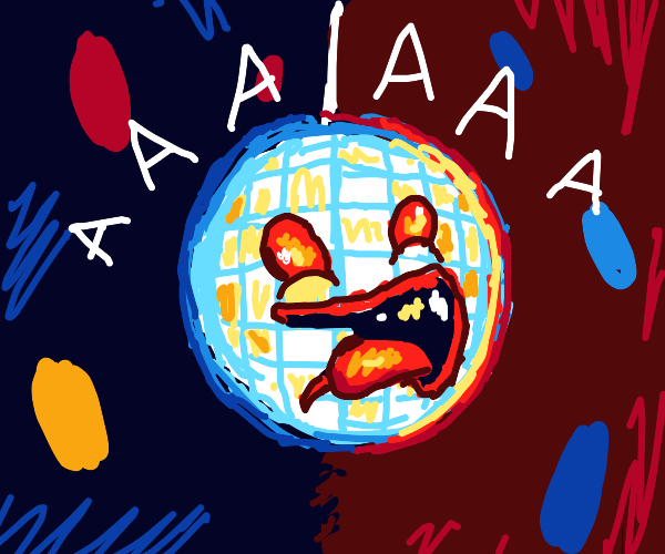 disco ball is scared of heights