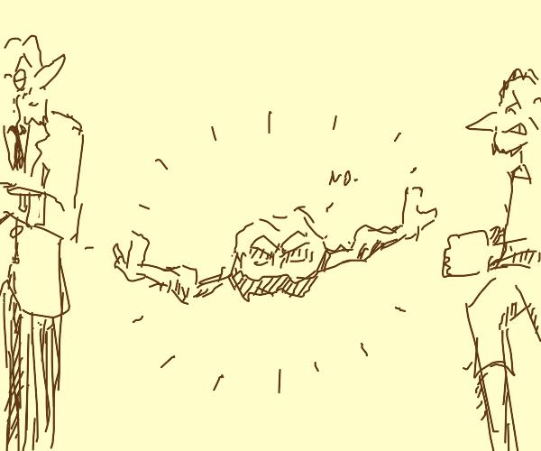 Geodude separates fight
