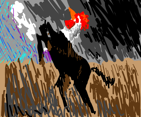 chicken but it's a horse