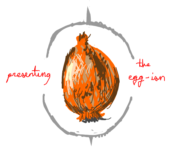 Egg looking onion