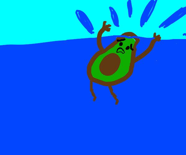 Drowning avocado