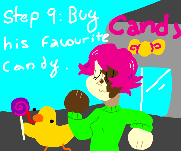 step 8: take the duck to the candy shop