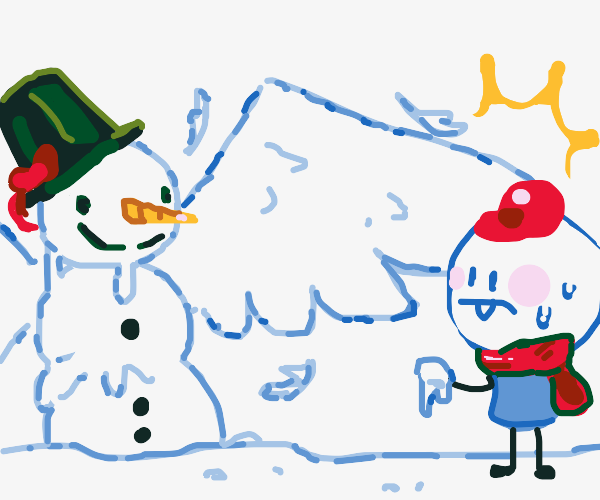 Mighty winged snowman