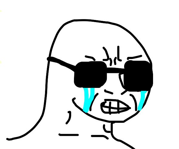 Dude takes off shades and now cries