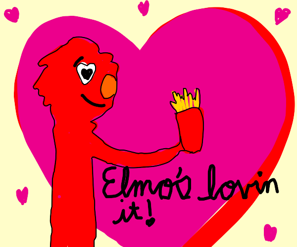 elmo loves french fries