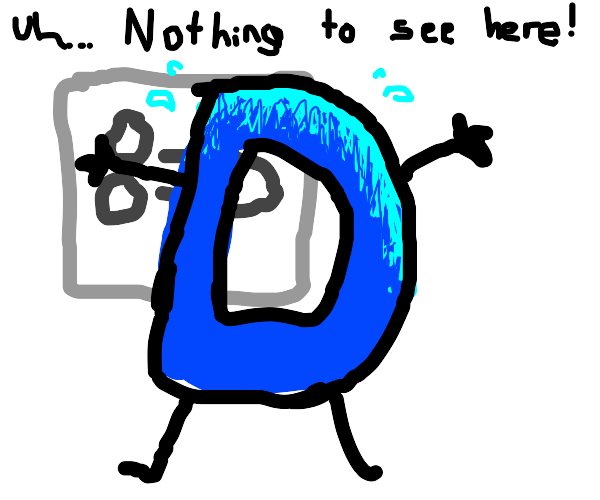 Drawception blocks a drawing