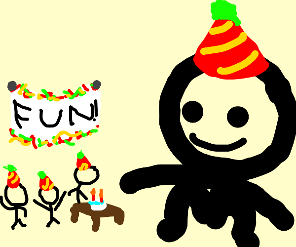 Giant hosts a fun party