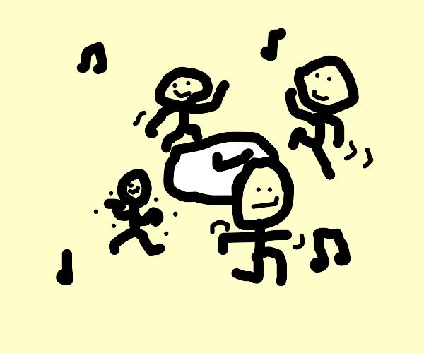 Dancing around the clock