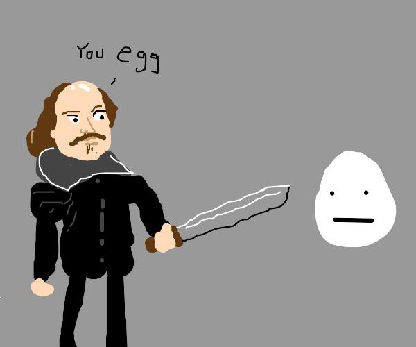 shakespeare has a sword