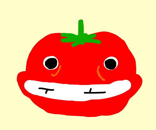 grinning tomato
