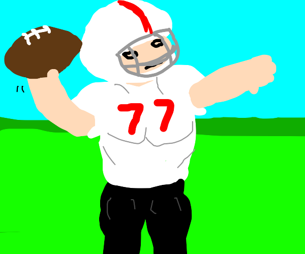 A person playing football