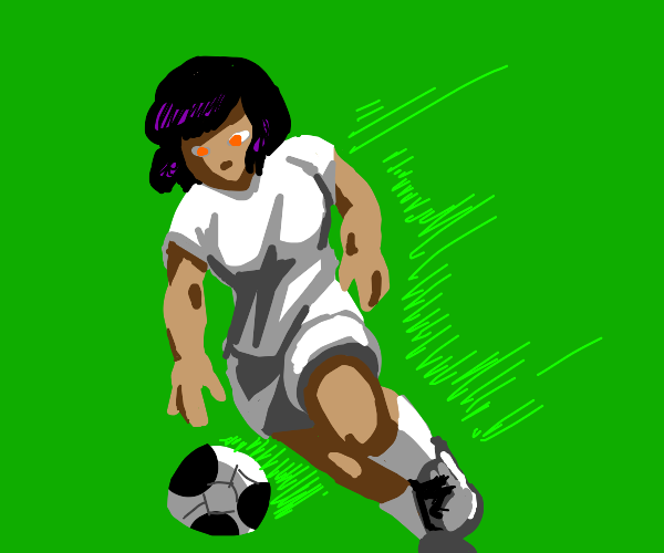 Cool soccer chick