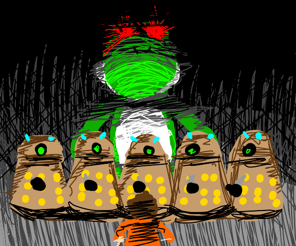 Yoshi and the Daleks exterminate the Doctor