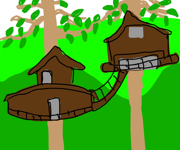 ewok house seen from a side