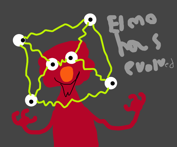 What? Elmo is evolving!!