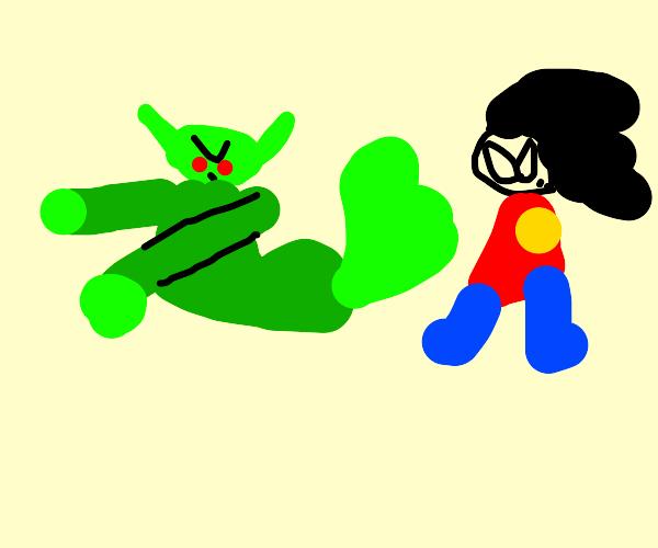 Goblin farts on Robin(Batman)