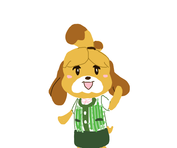 Isabelle greets you