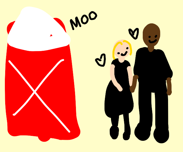 Interracial Couple At A Barn