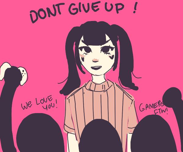 E-girl unites the gamers