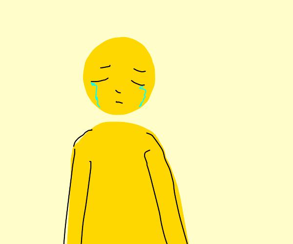 sad yellow man