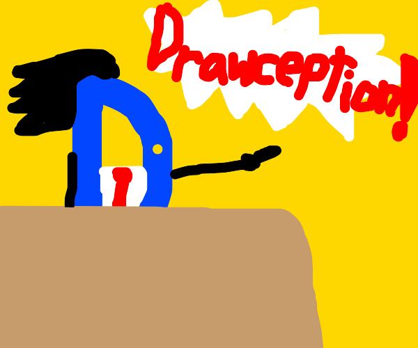 Phoneix Wright as the Drawception D