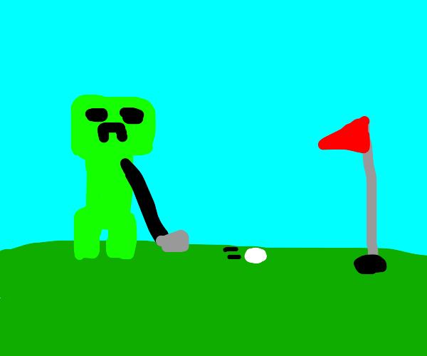 creeper playing golf