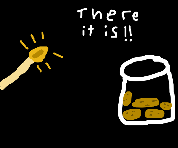 Lighting match to find cookie jar in the dark