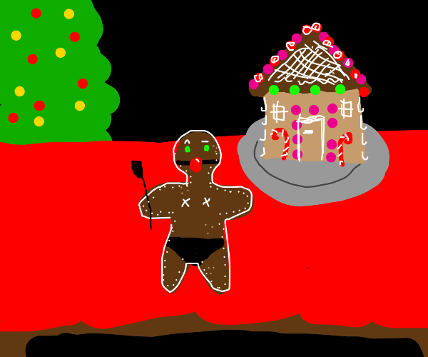 Gingerbread man is a pervert