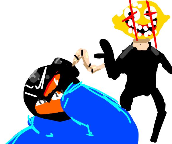 Lemon Demon beats up Whitty