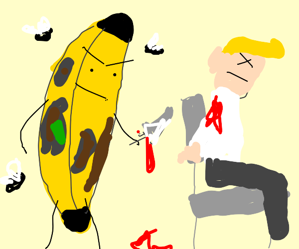 Rotten banana kills a man
