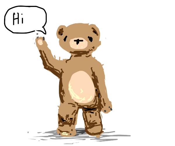 friendly bear says hi