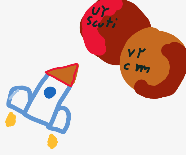 rocket going to VY CANIS MAJORIS