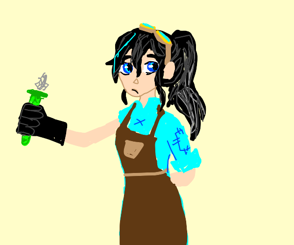 Science Girl with potion
