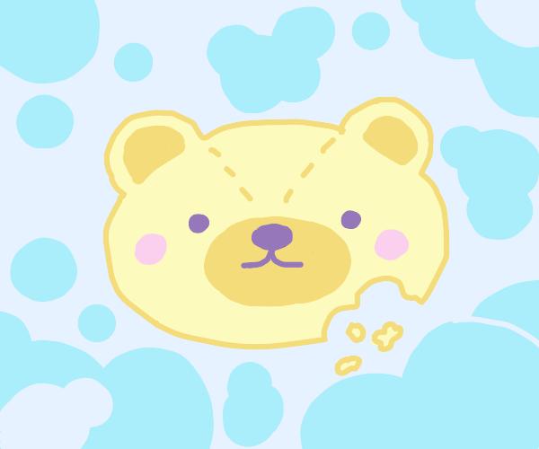 Bear shaped sugar cookie, yum!