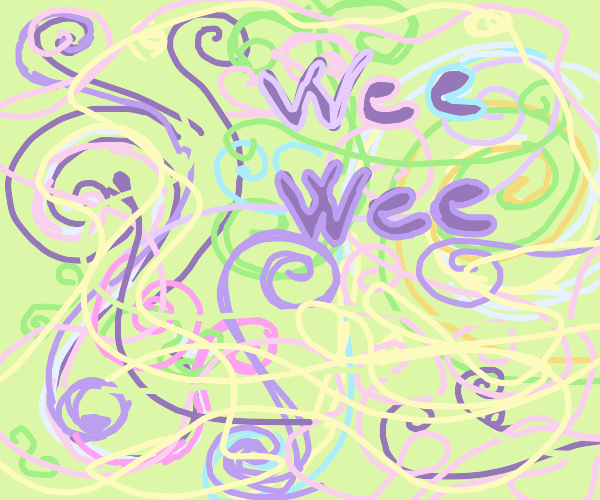 colorful swirls and the words wee wee