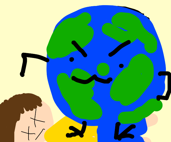 man is killed by the earth itself
