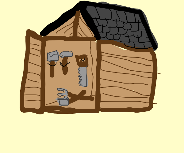 Shed with Tools